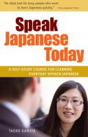 Speak Japanese Today