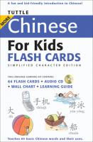 Tuttle More Chinese for Kids Flash Cards Simplified Character Edition