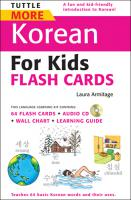Tuttle More Korean for Kids Flash Cards