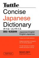 Tuttle Concise Japanese Dictionary 2nd ed.