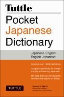 Tuttle Pocket Japanese Dictionary PB