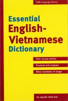Essential English-Vietnamese Dictonary