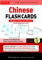 Chinese Flash Cards Kit Vol.2