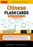 Chinese Flash Cards Kit Vol.1