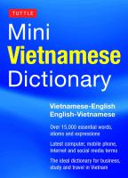 Tuttle Mini Vietnamese Dictionary
