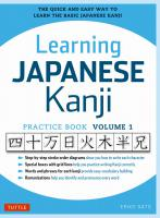 Learning Japanese Kanji Practice Book Vol.1