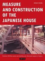 Measure and Construction of the Japanese House 2ed