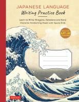 Japanese Language Writing Practice Book