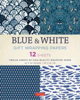 Gift Wrap Paper: Blue & White