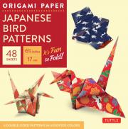origami paper:japanese bird prints 6.75