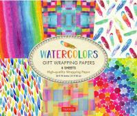 Watercolors Gift Wrapping Papers