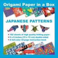 Origami Paper in a Box: Japanese Pattern