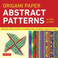 Origami Paper:Abstract Patterns - 8 1/4""