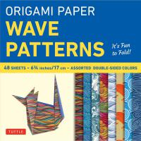 Origami Paper Wave Patterns 6 3/4