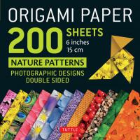 "Origami Paper Nature Patterns 6""200s"
