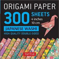 "Origami Paper: 300 sheets Japanese Washi Patterns 4"" (10 cm)"