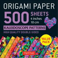 Origami Paper 500 sheets Kaleidoscope Patterns 4""