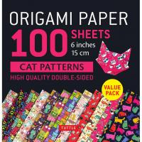 Origami Paper 100 sheets  Origami Paper Cats 6""