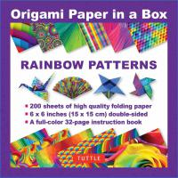 Origami Paper in a Box: Rainbow Patterns
