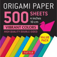 Origami Paper 500 sheets Vibrant Colors 4""