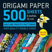 Origami Paper 500 sheets Nature 6""