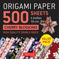 Origami Paper Cherry Blossoms 500 sheets 4""